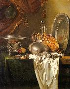 Willem Kalf Still Life with Chafing Dish, Pewter, Gold, Silver and Glassware oil painting