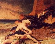 William Etty Hero and Leander 1 oil painting