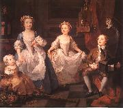William Hogarth The Graham Children oil painting