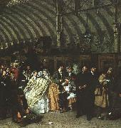 William Powell  Frith The Railway Station oil painting