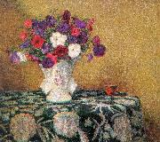 Wilson Irvine Still Life with Petunias oil painting