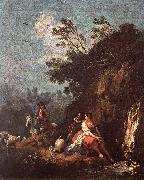 ZUCCARELLI  Francesco Landscape with a Rider oil painting
