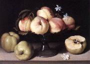 NUVOLONE, Panfilo Still-life with Peaches ag oil painting