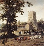 POST, Pieter Jansz Italianate Landscape with the Parting of Jacob and Laban zg oil painting reproduction