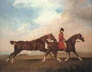 STUBBS, George William Anderson with Two Saddle-horses er oil painting