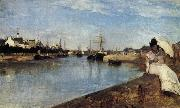 Berthe Morisot Vue du petit Port de Lorient oil painting reproduction