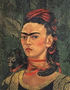 Frida Kahlo Self-Portrait with Monkey oil painting