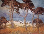 Marry DeNeale Morgan Cypress at Monterey oil painting