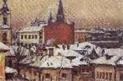 Vasily Surikov View of the Kremlin oil painting