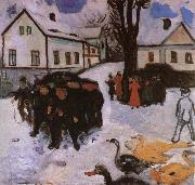 Edvard Munch Youngling and a group of duck oil painting reproduction