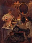 Irving R.Wiles Russian Tea oil painting reproduction