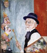 James Ensor My Portrait with Masks oil painting reproduction