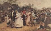 Sir Samuel Fildes The Wedding Procession oil painting