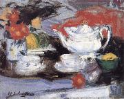 Francis Campbell Boileau Cadell Still Life with White Teapot oil painting