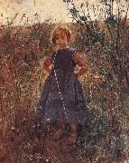 Fritz von Uhde Little Heathland Princess oil painting