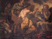 Johann Carl Loth Fupiter and Merury being entertained by philemon and Baucis oil painting reproduction