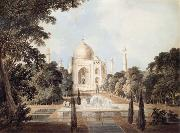 Thomas Daniell South View of the Taj Mahal at Agra oil painting