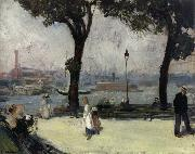 William J.Glackens East River Park oil painting