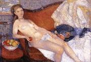 William J.Glackens Girl with Apple oil painting