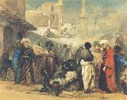 William James Muller The Cairo Slave Market oil painting
