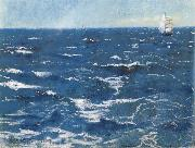William Stott of Oldham Choppy Sea oil painting