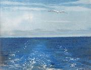 William Stott of Oldham Seagulls Astern oil painting