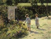 Wladyslaw Podkowinski Children in the Garden oil painting