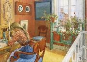 Carl Larsson Writing Letters oil painting reproduction