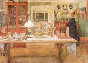 Carl Larsson Just a Sip oil painting reproduction