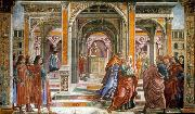 GHIRLANDAIO, Domenico Expulsion of Joachim from the Temple oil painting reproduction