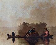 George Caleb Bingham Fur Traders Descending the Missouri oil painting reproduction
