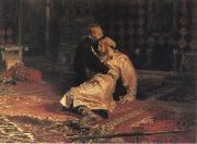 Ilya Repin Ivan the Terrible and his son ivan on 15 November 1581 1885 oil painting reproduction