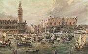 Luigi Querena The Arrival in Venice of Napoleon-s Troops oil painting