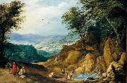 MOMPER, Joos de Extensive Mountainous Landscape oil painting reproduction