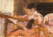 Mary Cassatt Lydia at a Tapestry Loom oil painting reproduction
