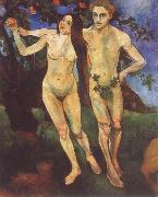 Suzanne Valadon Adam and Eve oil painting