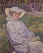 Theo Van Rysselberghe The Woman in White oil painting