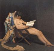 Theodore Roussel The Reading Girl oil painting