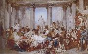 Thomas Couture The Romans of the Decadence oil painting