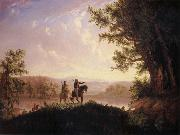 Thomas Mickell Burnham The Lewis and Clark Expedition oil painting