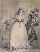 Thomas Rowlandson Mrs.Siddons,Old Kemble,and Henderson,Rehearsing in the Green Room oil painting