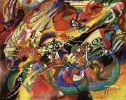 Vassily Kandinsky Study for composition fell oil painting