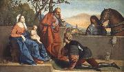 Vincenzo Catena A Muslim Warrior Adoring the Infant Christ and the Virgin oil painting