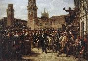 Vincenzo Giacomelli Daniele Manin and the Insurgents Capture the Arsenal oil painting