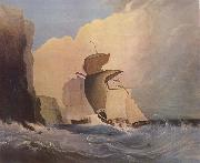 William Buelow Gould Sailing ships off a rocky coast oil painting