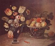 William Buelow Gould Flowers and Fruit oil painting