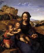 YANEZ DE LA ALMEDINA, Fernando Madonna and Child with Infant St John oil painting