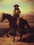 William de la Montagne Cary Buffalo Bill on Charlie oil painting