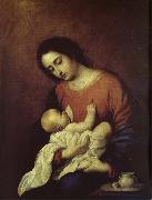 Francisco de Zurbaran The Virgin Mary and Christ oil painting