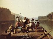 George Caleb Bingham Boater playing the Card oil painting